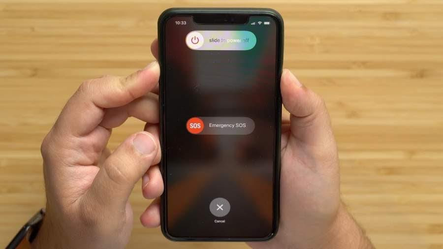 Restart the iPhone or iPad